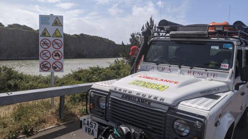 cavra landy on civil aid patrols Rhoose point