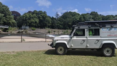 cavra landy on civil aid patrolsBlackweir river taff